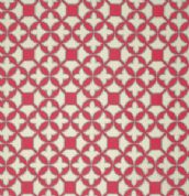 Free Spirit Flora by Joel Dewberry - 3837 - Raspberry Pink & Ivory Trellis - PWJD101 - Cotton Fabric